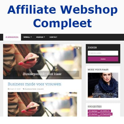 affiliate webshop compleet