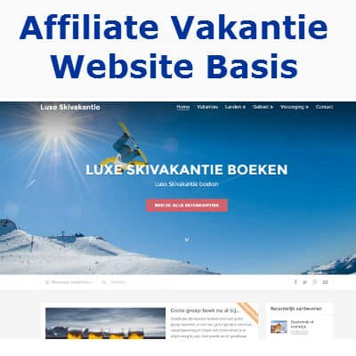 affiliate vakantie website basis