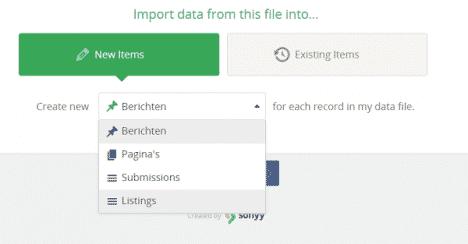 import berichten
