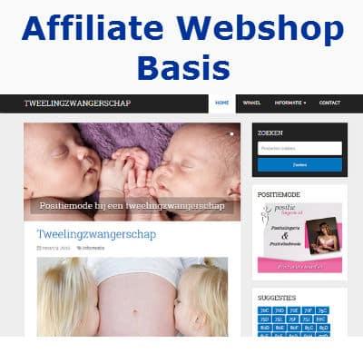 affiliate webshop basis