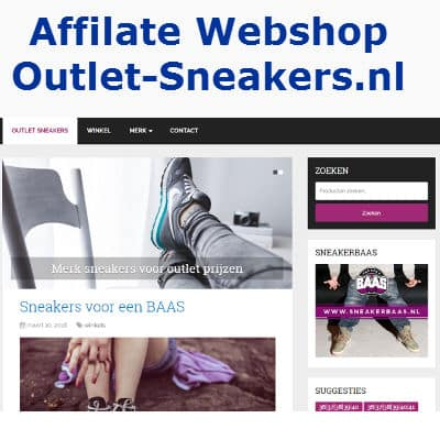 affiliate webshop outlet sneakers