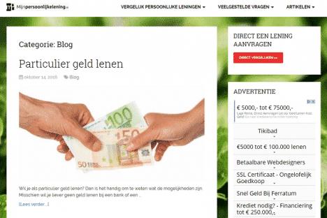 Mijn persoonlijke lening blog