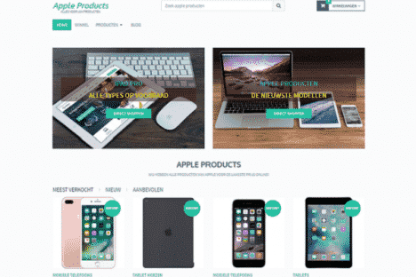 appleproducts affiliate webshop