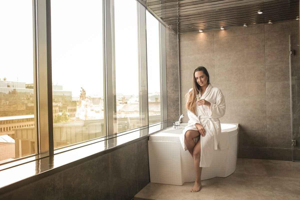 luxe hotel badjas